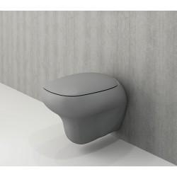 Banio Bocchi Fenice ophang wc mat grijs, met sproeier