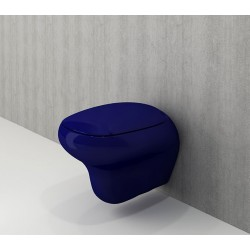 Banio Bocchi Fenice ophang wc saphire blauw, met sproeier