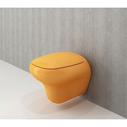 Banio Bocchi Fenice ophang wc mandarijn, met sproeier