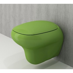 Banio Bocchi Fenice ophang wc groen, met sproeier