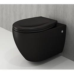 Banio Bocchi Jet Flush ophang wc mat zwart, met sproeier