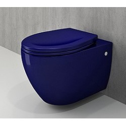 Banio Bocchi Jet Flush ophang wc saphire blauw, met sproeier
