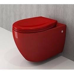 Banio Bocchi Jet Flush ophang wc rood, met sproeier