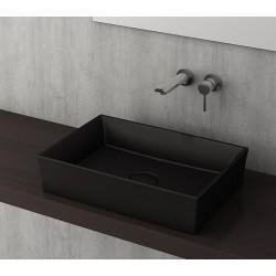 Banio Bocchi Cesena wastafel 55x38cm mat zwart