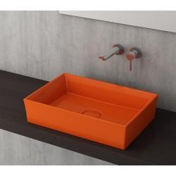 Banio Bocchi Cesena wastafel 55x38cm oranje