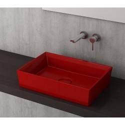 Banio Bocchi Cesena wastafel 55x38cm rood