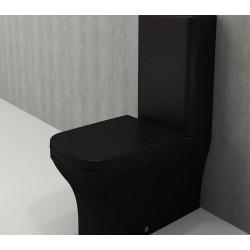 Banio Bocchi Scala Arch staande wc onderpot met sproeier mat zwart