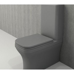 Banio Bocchi Scala Arch staande wc onderpot met sproeier mat grijs