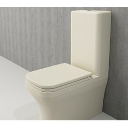 Banio Bocchi Scala Arch staande wc onderpot met sproeier mat vanille