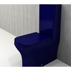 Banio Bocchi Scala Arch staande wc onderpot met sproeier saphire blauw