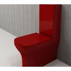 Banio Bocchi Scala Arch staande wc onderpot met sproeier rood