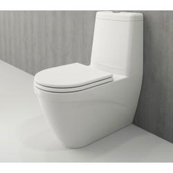 Banio Bocchi Taormina Pro staande wc onderpot met sproeier wit