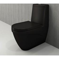 Banio Bocchi Taormina Pro staande wc onderpot met sproeier mat zwart