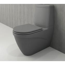 Banio Bocchi Taormina Pro staande wc onderpot met sproeier mat grijs