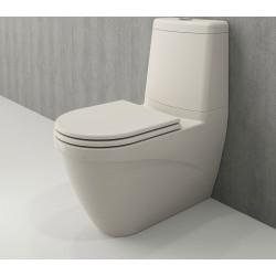 Banio Bocchi Taormina Pro staande wc onderpot met sproeier biscuit