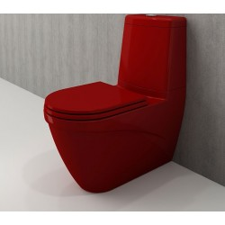 Banio Bocchi Taormina Pro staande wc onderpot met sproeier rood