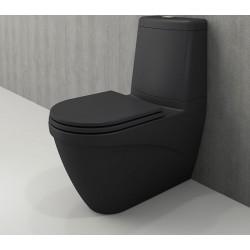 Banio Bocchi Taormina Pro staande wc onderpot met sproeier mat antraciet