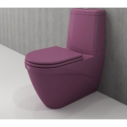 Banio Bocchi Taormina Pro staande wc onderpot met sproeier violet