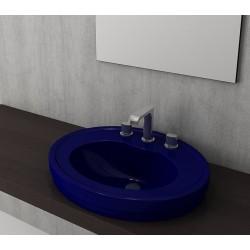 Banio Bocchi Loreto wastafel 48x60cm met 1 kraangat saphire blauw