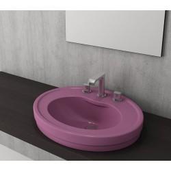Banio Bocchi Loreto wastafel 48x60cm met 1 kraangat violet