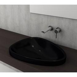 Banio Bocchi Etna ovaal wastafel 44x58cm zwart