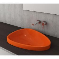 Banio Bocchi Etna ovaal wastafel 44x58cm oranje