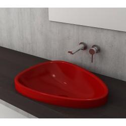 Banio Bocchi Etna ovaal wastafel 44x58cm rood