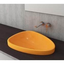Banio Bocchi Etna ovaal wastafel 44x58cm mandarijn
