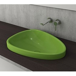 Banio Bocchi Etna ovaal wastafel 44x58cm groen
