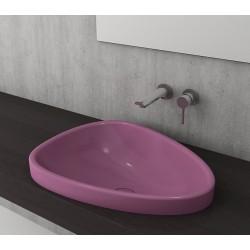 Banio Bocchi Etna ovaal wastafel 44x58cm violet