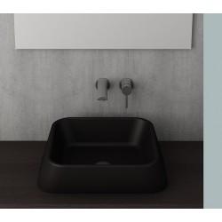 Banio Bocchi Elba vasque à poser  42x42cm noir mat