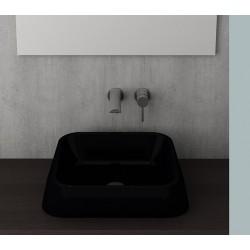 Banio Bocchi Elba wastafel 42x42cm zwart