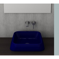 Banio Bocchi Elba wastafel 42x42cm saphire blauw