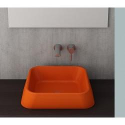 Banio Bocchi Elba wastafel 42x42cm oranje