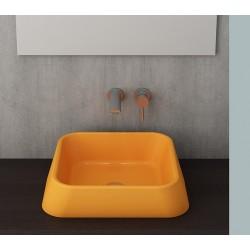 Banio Bocchi Elba wastafel 42x42cm mandarijn