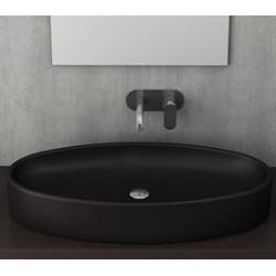 Banio Bocchi Elba wastafel 40x85cm mat zwart