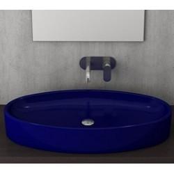 Banio Bocchi Elba wastafel 40x85cm saphire blauw