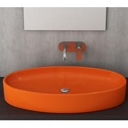 Banio Bocchi Elba wastafel 40x85cm oranje
