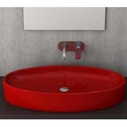 Banio Bocchi Elba wastafel 40x85cm rood