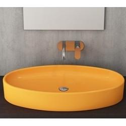 Banio Bocchi Elba wastafel 40x85cm mandarijn
