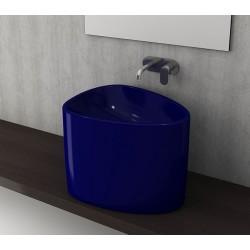 Banio Bocchi Etna half monoblok wastafel 58x44 saphire blauw