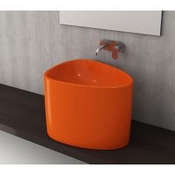 Banio Bocchi Etna half monoblok wastafel 58x44 oranje