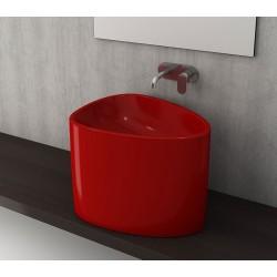 Banio Bocchi Etna half monoblok wastafel 58x44 rood