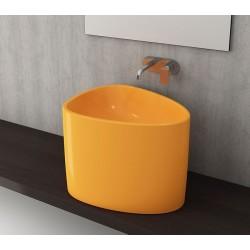 Banio Bocchi Etna half monoblok wastafel 58x44 mandarijn