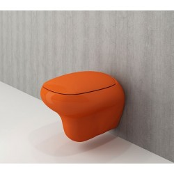 Toilette suspendue geberit chez banio banio salle de bain badkamers - Wc oranje ...