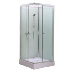 Creavit cabine de douche carrée de 80x80x200cm vitrage securit 5mm