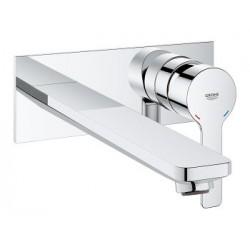 Grohe Lineare mitigeur monocommande lavabo, 2 trous, montage mural, taille L, chromé