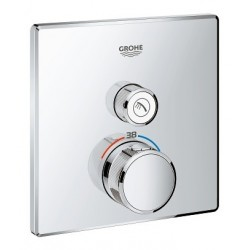 Grohe SmartControl inbouwthermostaat, 1 uitgang, vierkant