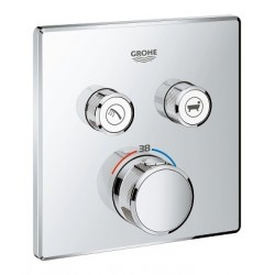 Grohe SmartControl thermostat encastré, 2 sorties, carré