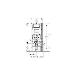 geberit duofix pour wc suspendu 112 cm avec chasse d 39 eau encastrer sigma 12 cm autoportant. Black Bedroom Furniture Sets. Home Design Ideas